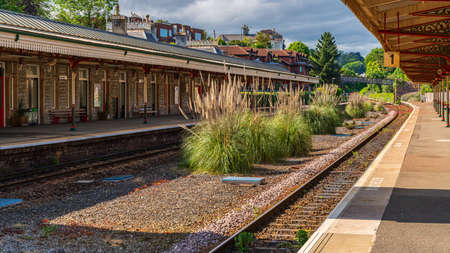Torquay, Torbay, England, UK - June 04, 2019: View at the Railway Station
