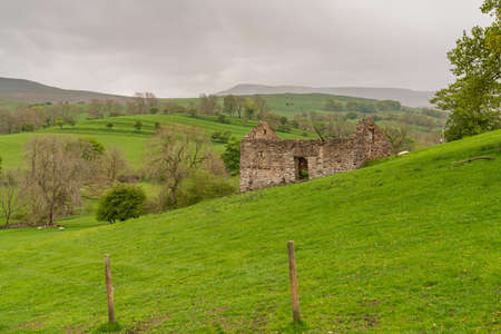 A stone barn between Kirkby Stephen and Nateby, Cumbria, England, UK