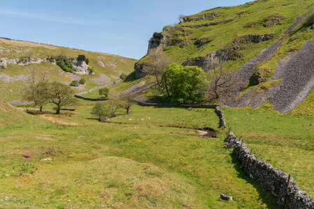Yorkshire Dales landscape in the Lower Wharfedale near Skyreholme, North Yorkshire, England, UK