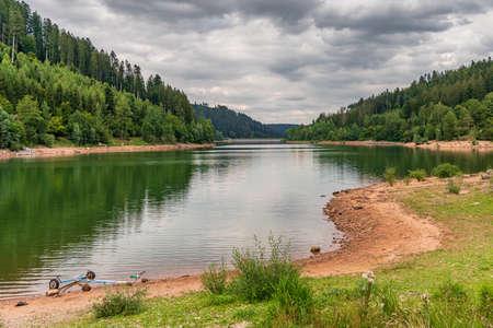 View over the Nagoldtalsperre (Nagold reservoir) in the Black Forest near Freudenstadt, Baden-Wuerttemberg, Germany