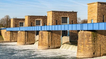 Ruhrwehr, bridge over the River Ruhr in Duisburg, North Rhine-Westphalia, Germany