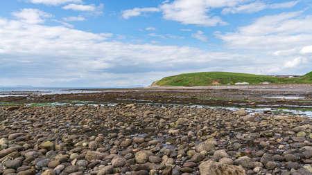 Low tide at Parton Beach, looking from Parton Bay towards Providence Bay, Cumbria, England, UK
