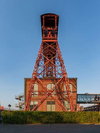 Moers, North Rhine-Westfalia, Germany - August 03, 2018: Former mining building of the Zeche Rheinpreussen Editorial