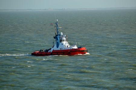 Coast Guard Tugboat North Sea Stock Photo