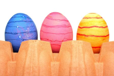 Beautiful painted Easter eggs Stock Photo