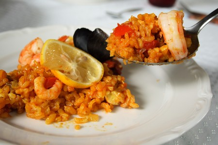 Original spanish Paella photo