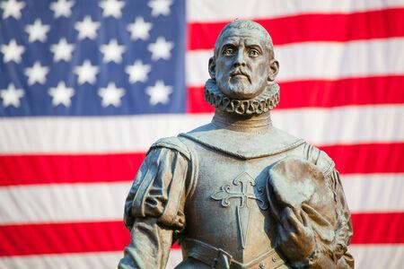 Pedro Menendez de Aviles Statue of, founder of St. Augustine, Florida
