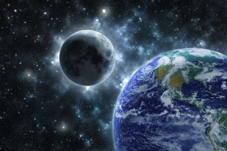 Moon and the Earth