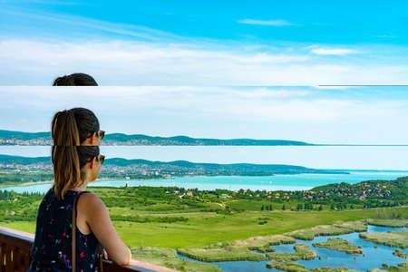 Arial panoramic view of Balaton Standard-Bild