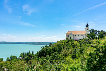 Tihany church abbey on the hill at Lake Balaton