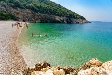 Hidden Lubenice beach in Cres island Croatia