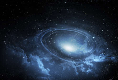 Starfield galaxy spiral background- Elements of this Image Furnished by NASA