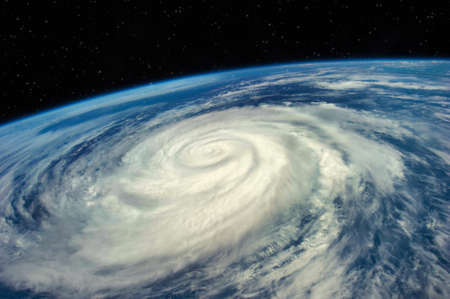 Hurricane view from the space Elements of this image furnished by NASA .
