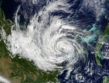 Hurricane view from the space Elements of this image furnished by NASA Foto de archivo