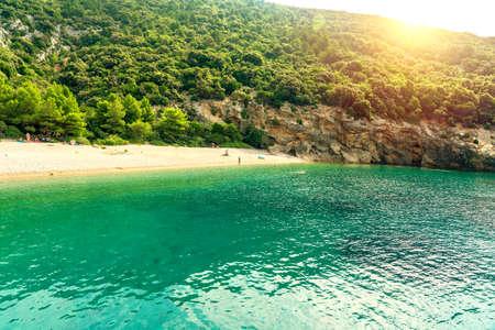 Hidden Lubenice beach in Cres island Croatia