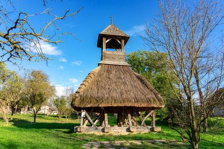 Skirted Belfry in Pankasz, Hungary the symbol of the Őrség region