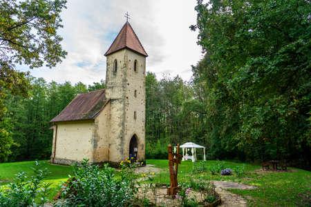 Beautiful little old catholic Trinity church in Velemér Őrség national park