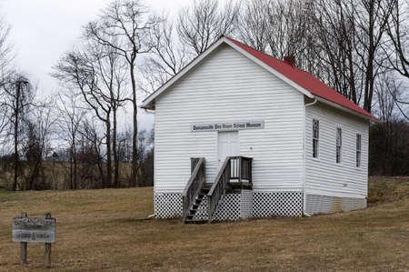 one room school house: One room school museum in Duncansville, Virginia