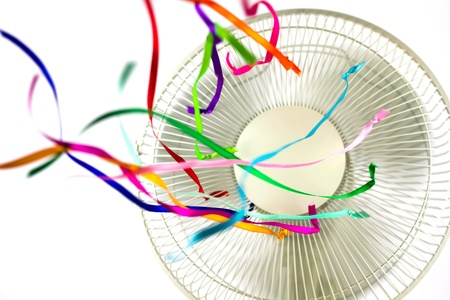 color fan: Ventilator with Ribbons Stock Photo