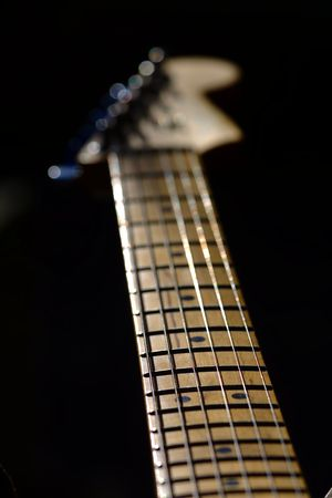 stratocaster: guitar neck Stock Photo