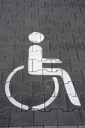 handicapped parking lot photo