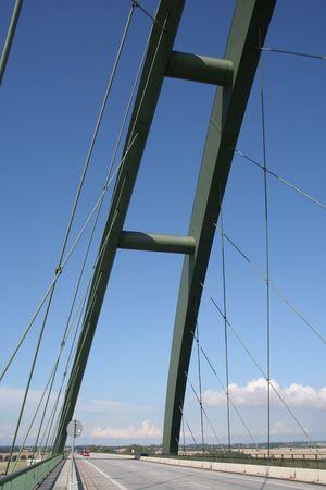 sund: Fehmarn Sund Bridge Stock Photo