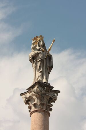 sanctified: statue of virgin mary