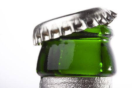 detail of a beer bottle