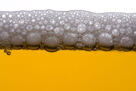detail of beer in a glass Stock Photo