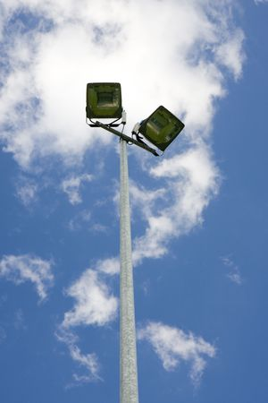 lamp post in a football stadion photo
