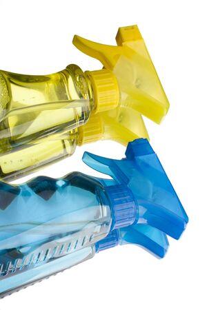 desencadenar: azul y amarillo gatillo de pulverizaci�n botellas