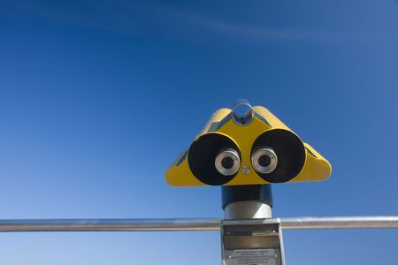 abstract view of a binocular on a sunny day in southern france Stock Photo - 3534003