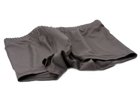 knickers: brown cotton knickers on white background