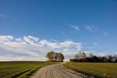 chemin de gravier sur la campagne Banque d'images - 3905047