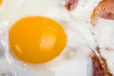 detail of ham and eggs in a pan Stock Photo - 4121074