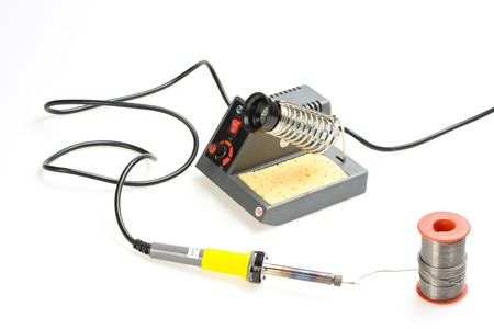 soldering station isolated on white background Stock Photo