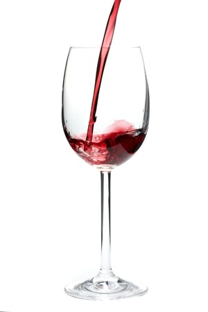 pouring red wine into a glass Stock Photo - 4121093