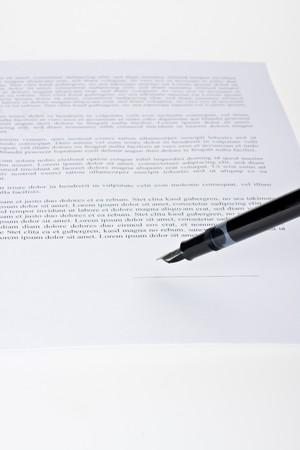 fountain pen ready to sign a contract Stock Photo - 4451620