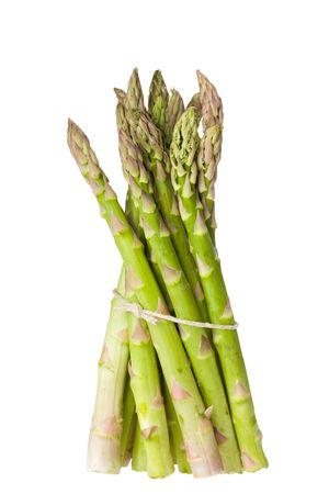 detail of fresh green asparagus isolated on white background Stock Photo - 4536308