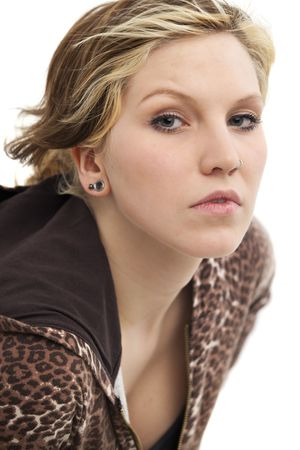 portrait of a young woman with a nose piercing Stock Photo - 5917772