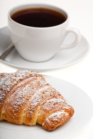croissant and a cup of coffee Stock Photo - 6444262