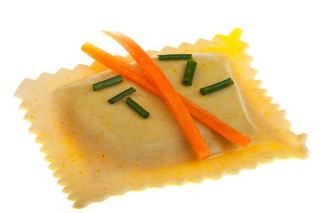 Bayerischen Pasta-Quadrate gefüllt mit Fleisch und Spinat Standard-Bild - 6856508