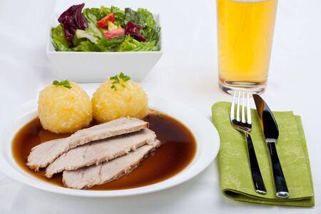 bavarian roasted pork dish with dumpling Stock Photo - 6856514
