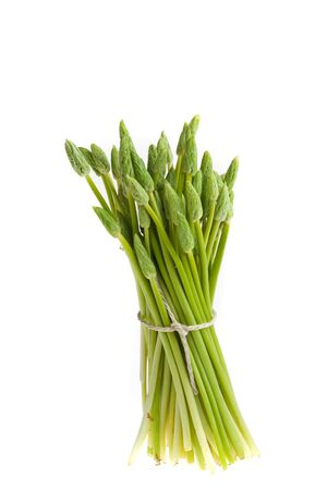 bunch of wild green asparagus Stock Photo