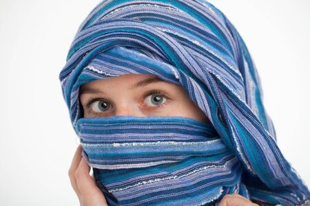 girl with a scarf around the head  Stock Photo - 16335466