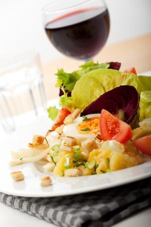 closeup of fresh mixed salad photo