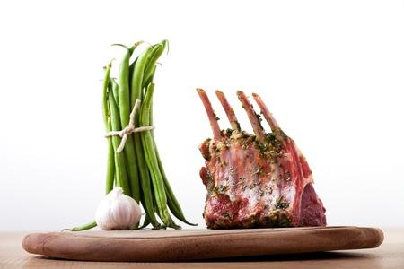 closeup of raw lamb chops Stock Photo - 9344415