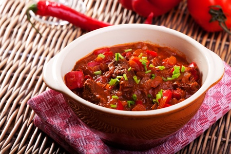 hungarian goulash in a bowl Stock Photo - 9604056