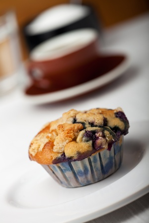 closeup of a blueberry muffin Stock Photo - 9948205
