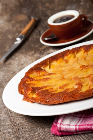 detail of a tarte tatin photo